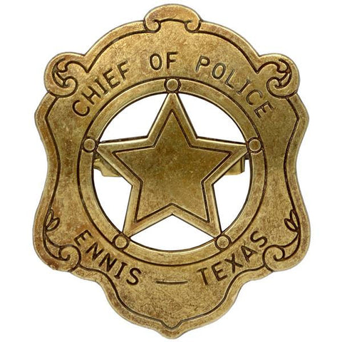 Chief Of Police Badge - Ennis Texas - G110