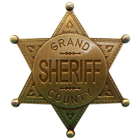 Grand County Sheriff Badge - Brass - G113/L