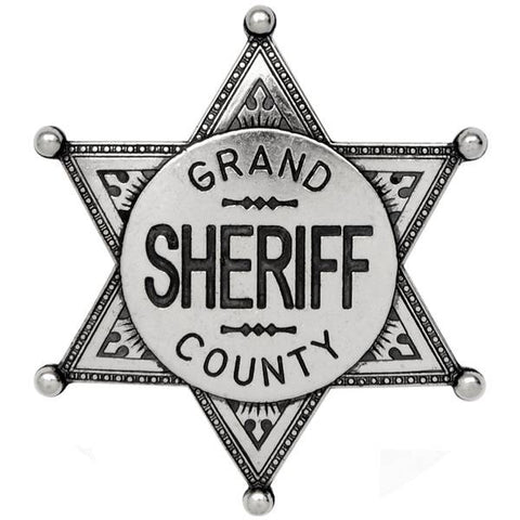 Grand County Sheriff Badge - Nickel - G113/NQ