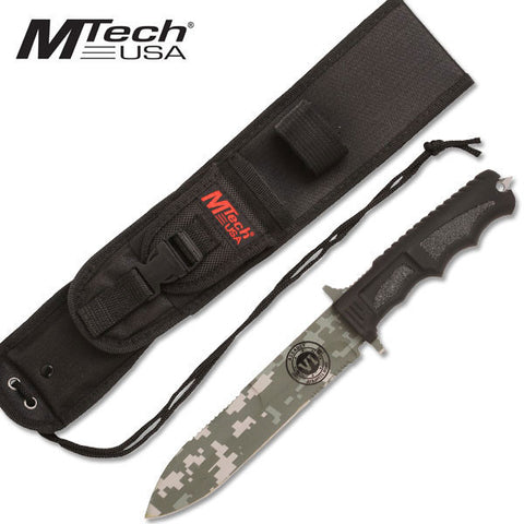 "MTech USA Tactical Fixed Blade Knife 12.5"" Overall - MT-086DG"