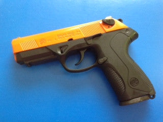 Model P4 Orange Two Tone Blank Firing Pistol by Bruni - BFP4O