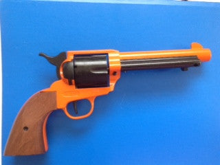 Orange Single Action Blank Firing Revolver  380 - BFRSAO
