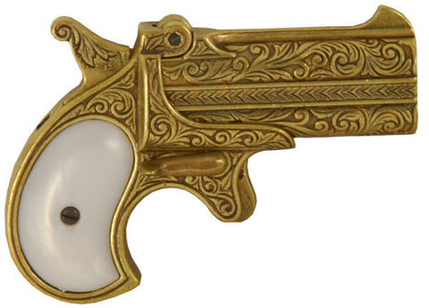 POCKET DERRINGER PISTOL brass finish - G1262L