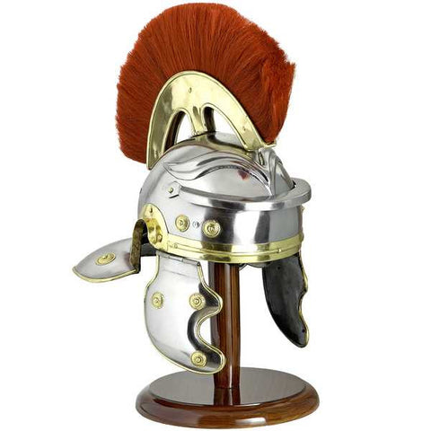 ROMAN HELMET WITH RED PLUME - S5503