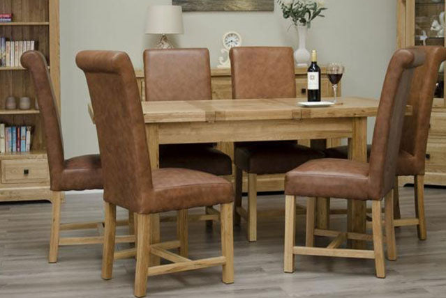 5.100% Solid Oak Table & Chair Sets