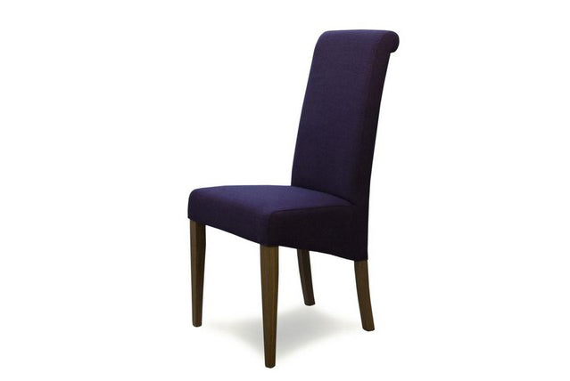 9. Fabric Chairs With Oak Frame & Legs