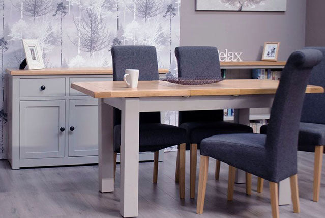 3. Cinza Oak & Grey Painted Dining & Occasional Range