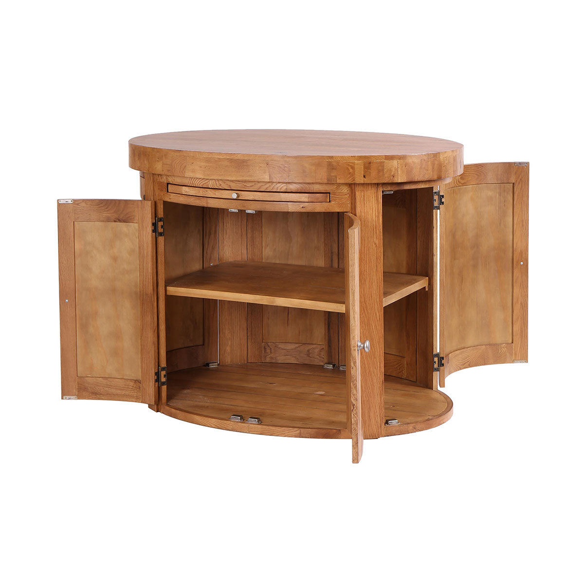 Oval Island with 6 Doors & Fixed Shelf