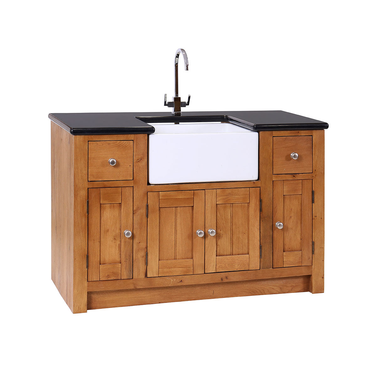 Granite Sink Unit with 4 Doors & 2 Drawers ( FLUSH EDGE )