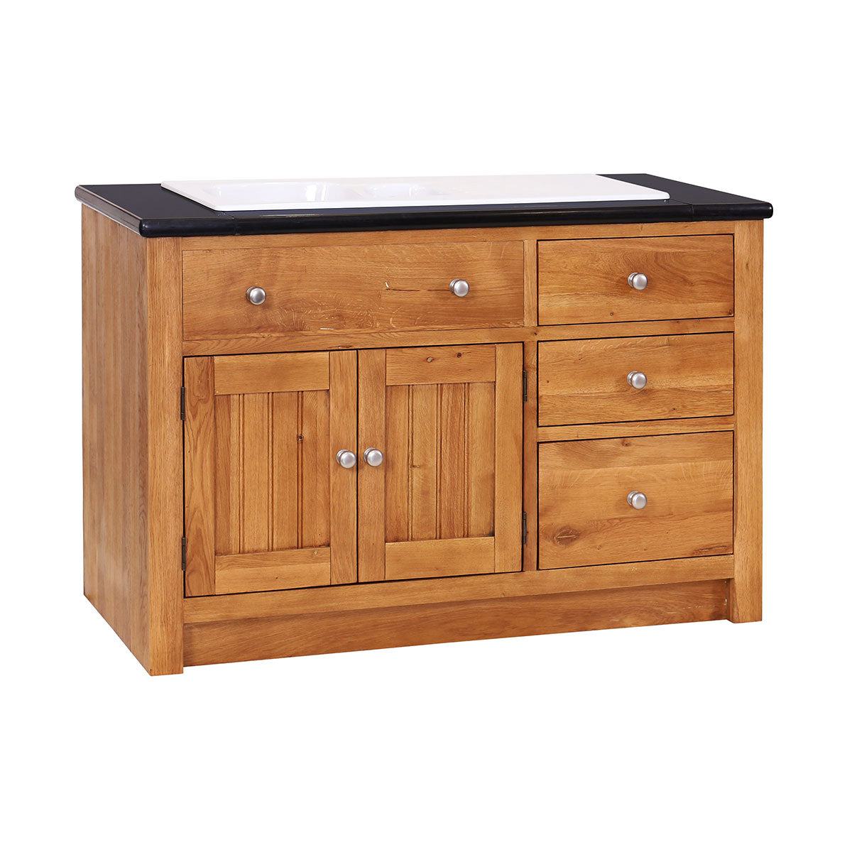 Left Hand Sink Unit with 3 Drawers & 2 Doors ( NO GRANITE TOP)