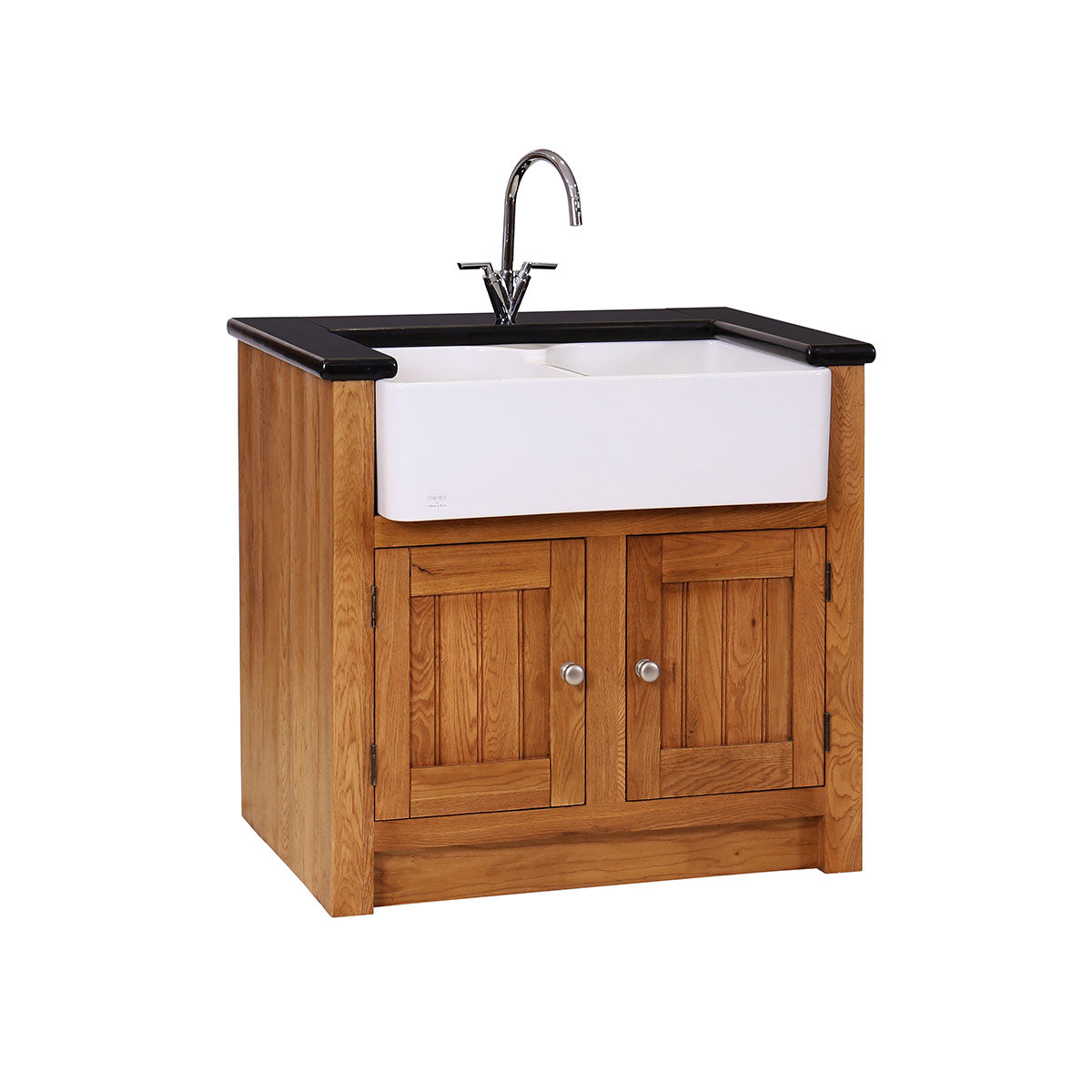 Granite Double Belfast Sink Unit ( FLUSH EDGE)