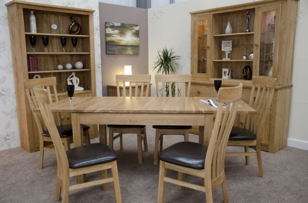 Milano Oak Dining Set - Extending with 6 Lucia Chairs