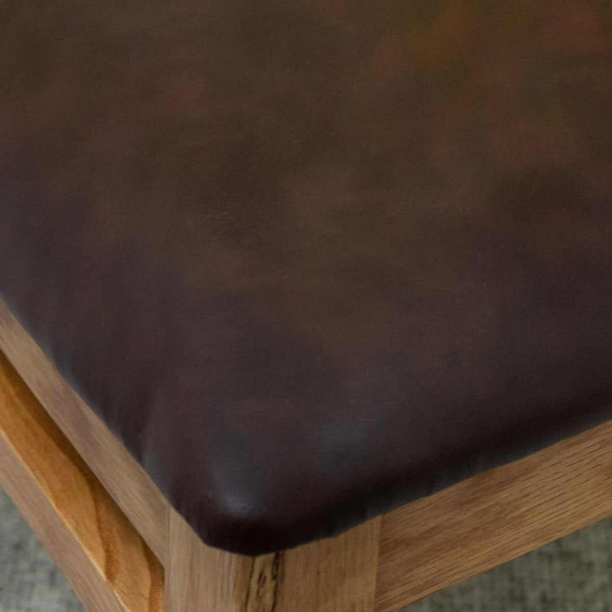 Stockholm Solid Oak Dining Chair With Leather Seat
