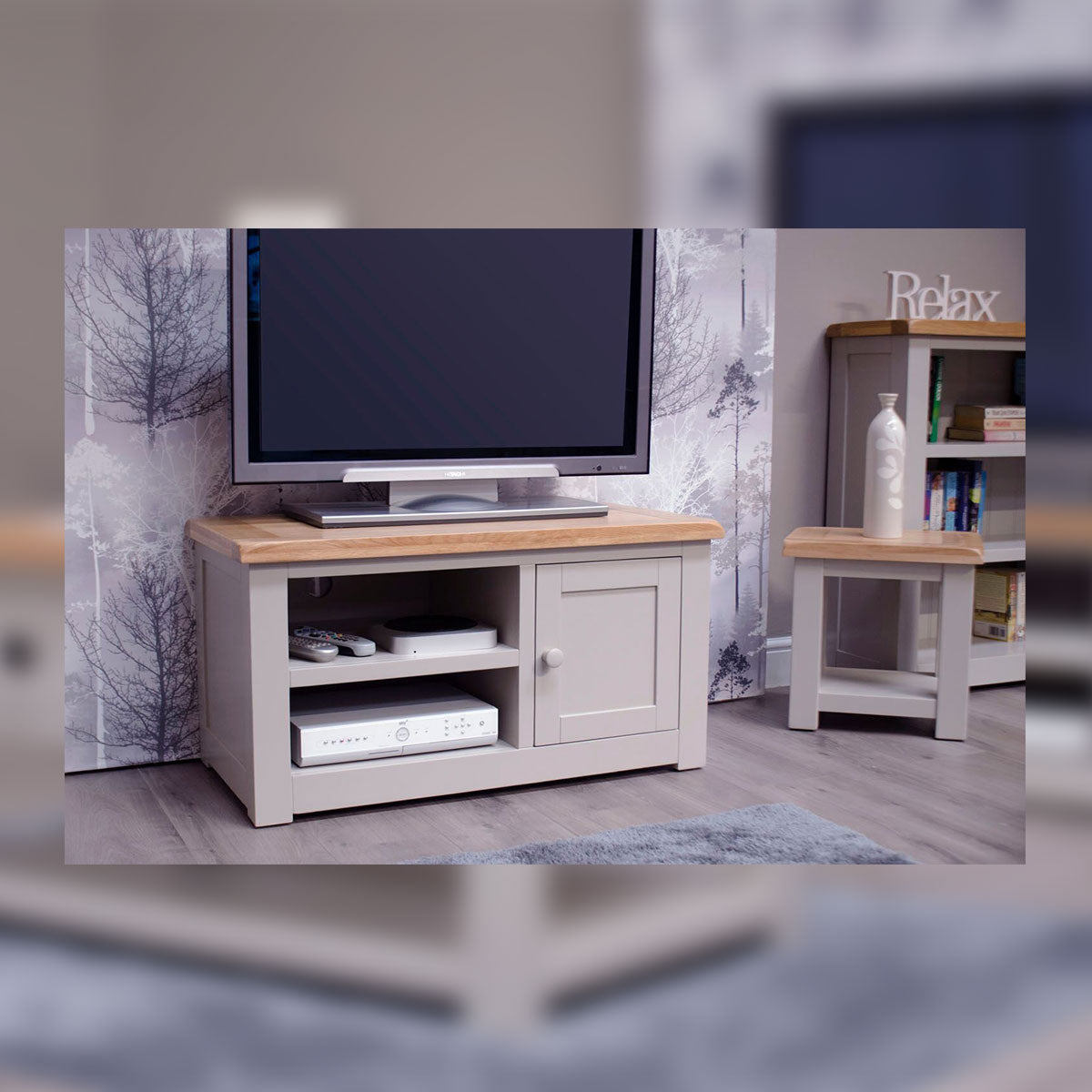 CINZA GREY 1 DOOR TV CABINET