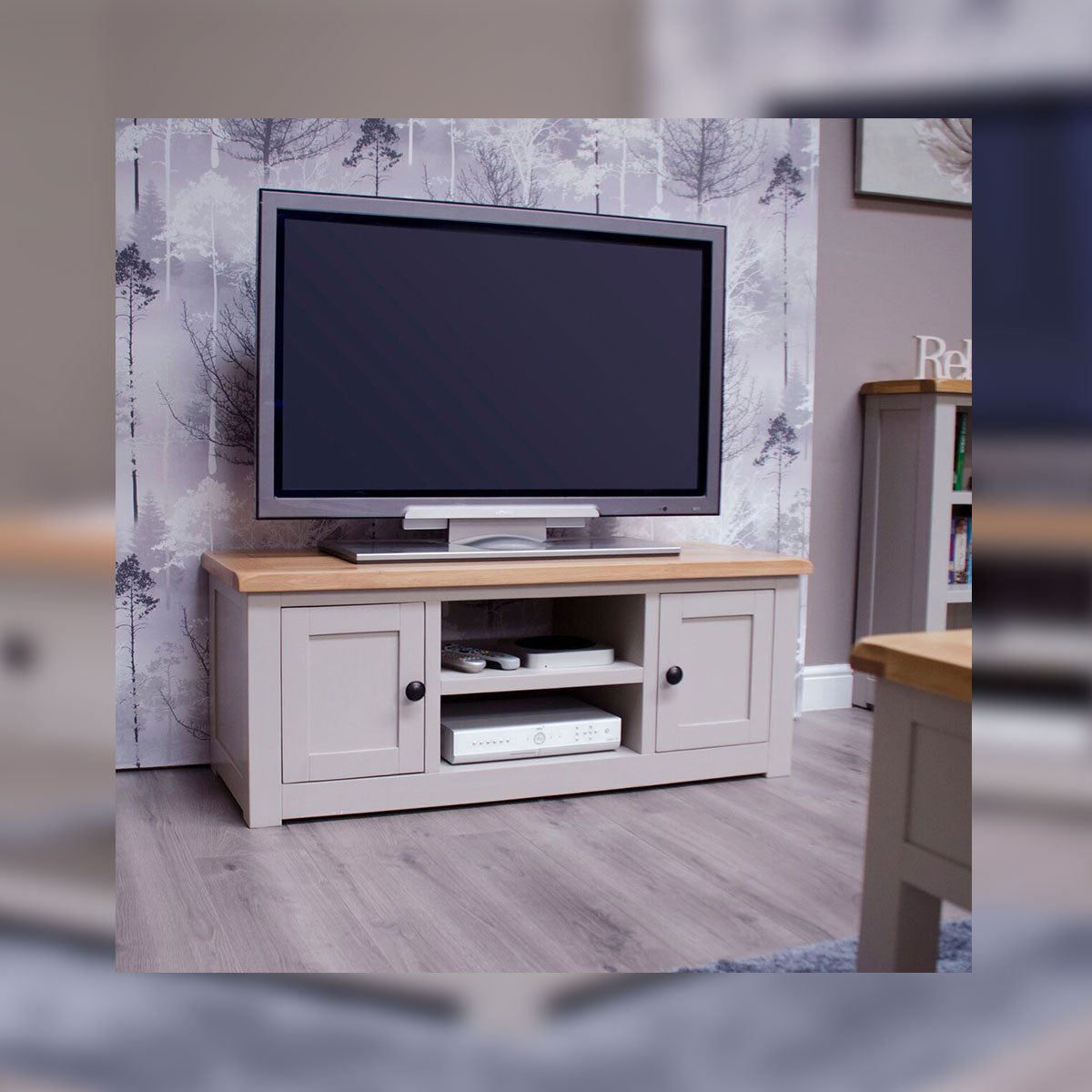 CINZA 2 DOOR TV CABINET