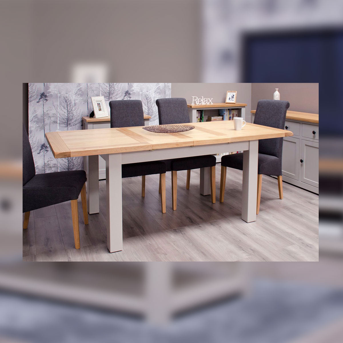 CINZA GREY MEDIUM EXTENDING TABLE