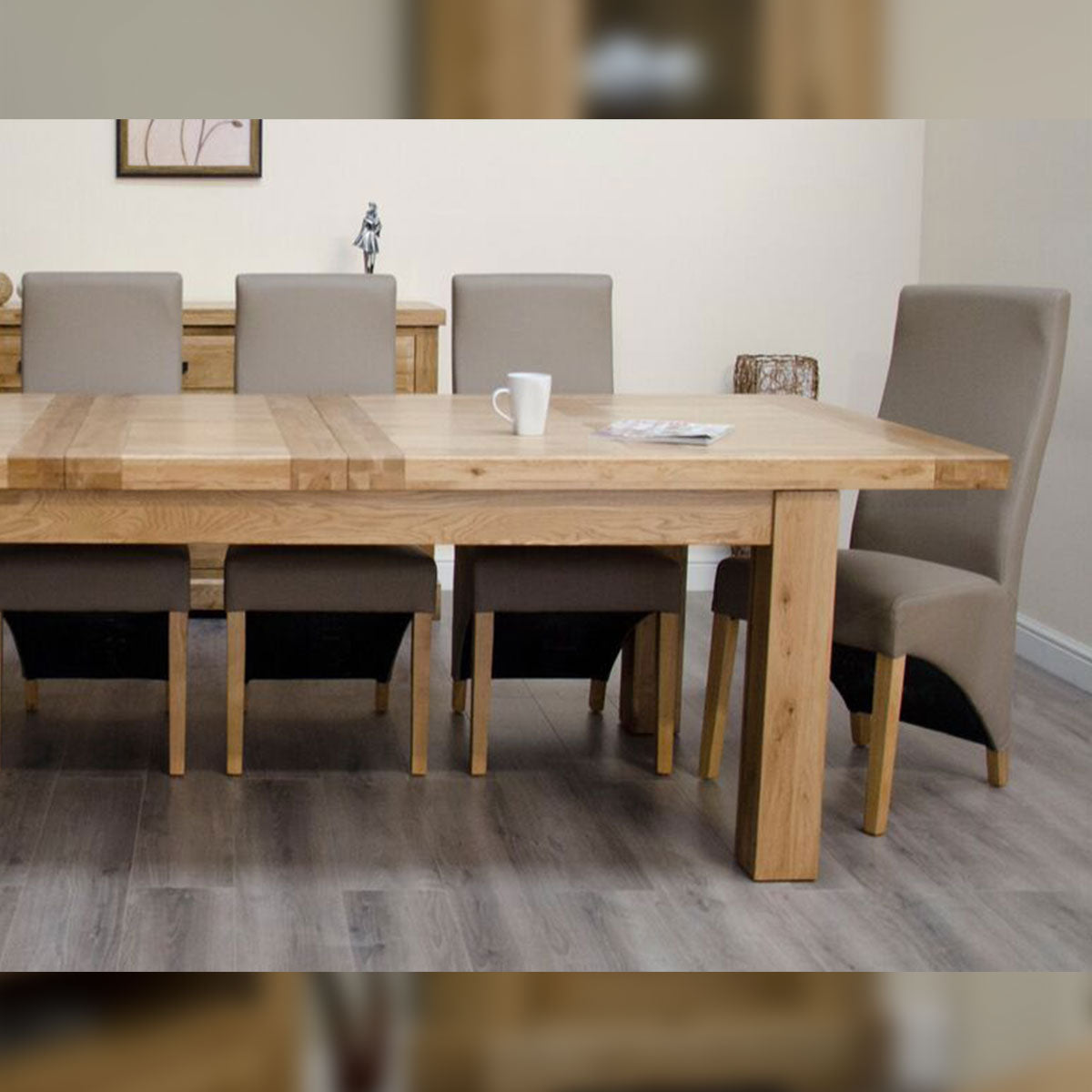 Elegance Oak Twin Leaf Extending Table 1800mm+(2 x 400mm leafs) X 1000mm