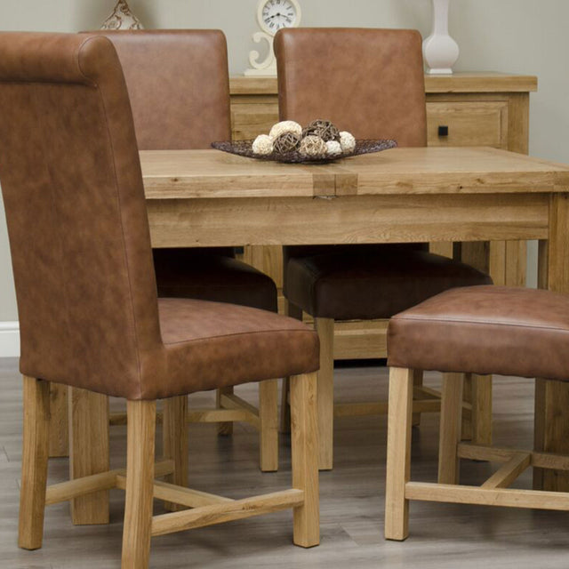 Elegance Oak Butterfly Table 1220mm (+450mm) Available In Natural Oak Or A Painted Finish