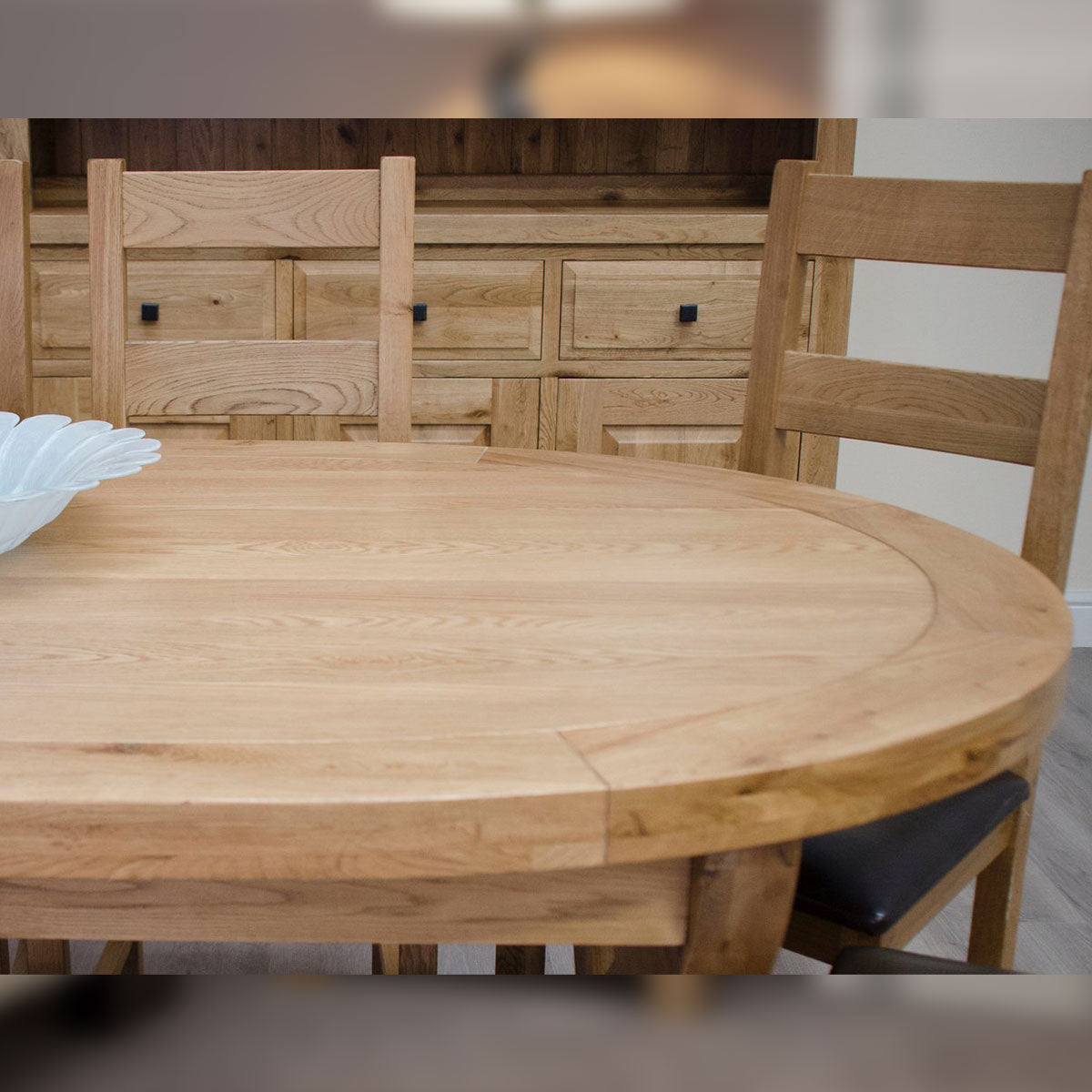Elegance Deluxe X Leg Oval Extending Table | Seats Up To 8 People Available In Natural Oak Or A Painted Finish