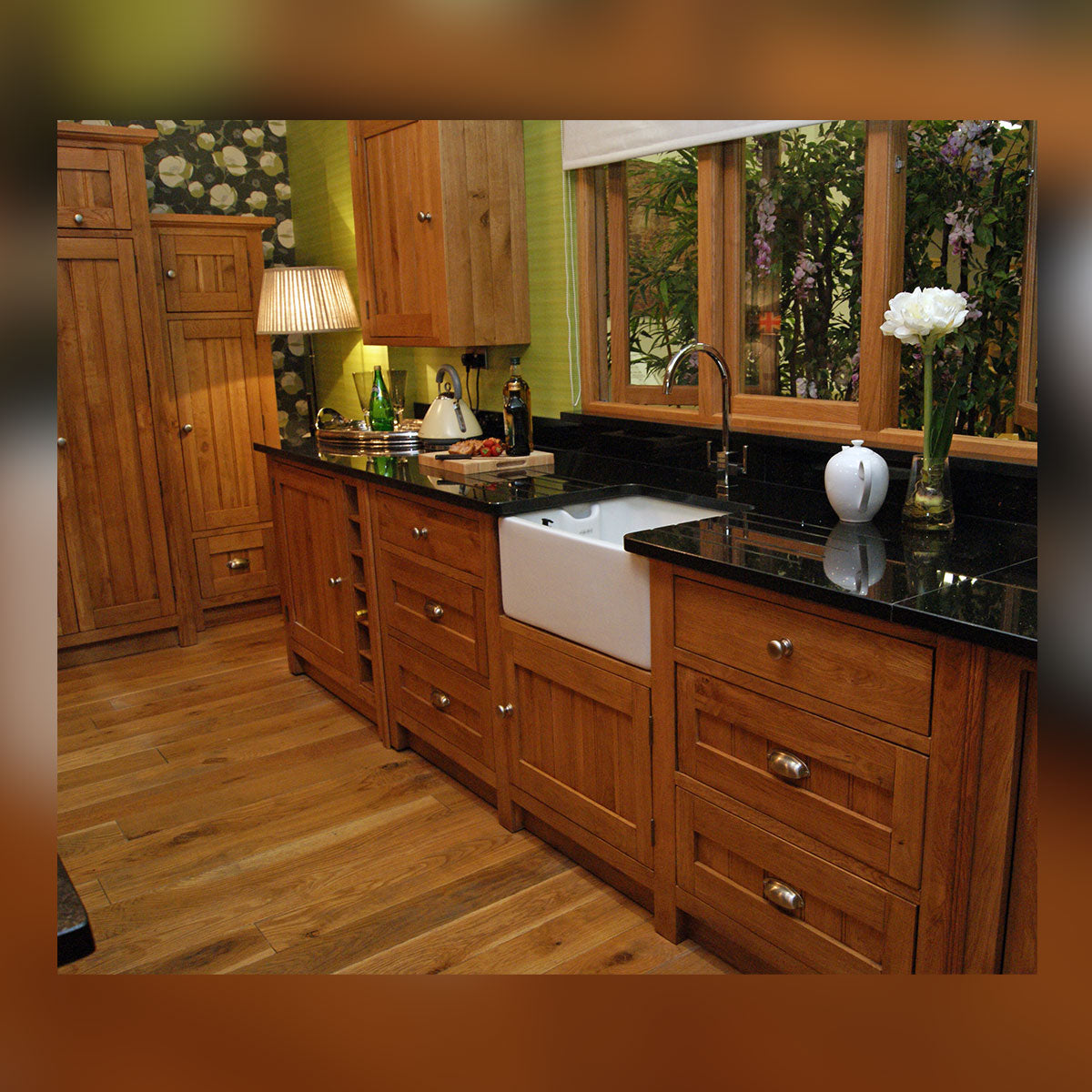 Right Hand Granite Unit with 1 Door & 1 Drawer