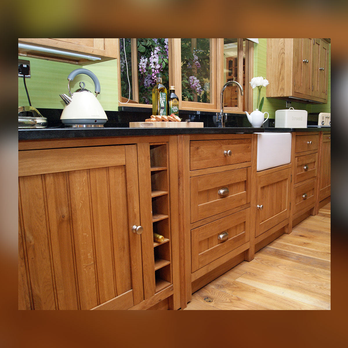 Double Belfast Sink Unit (NO GRANITE TOP)