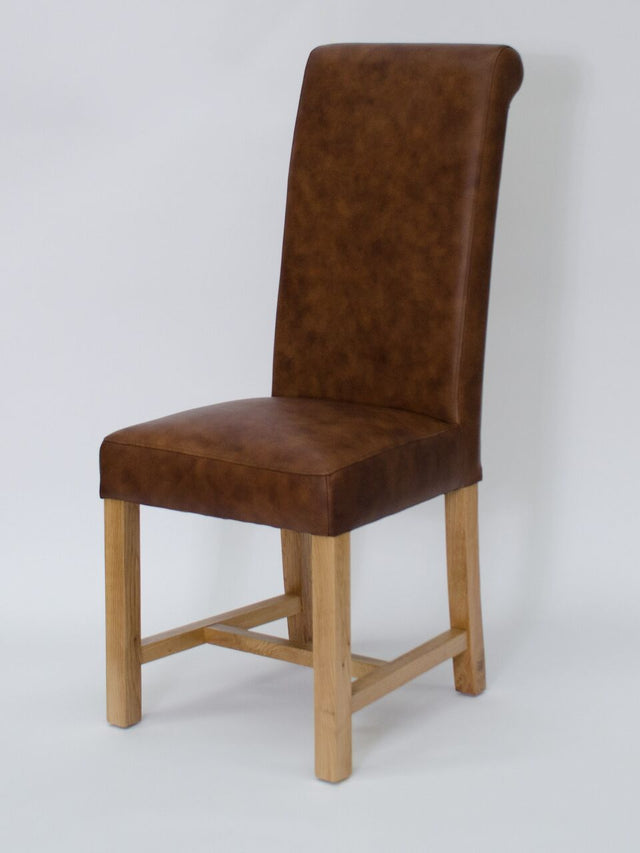 Henley Leather Mocha Chair