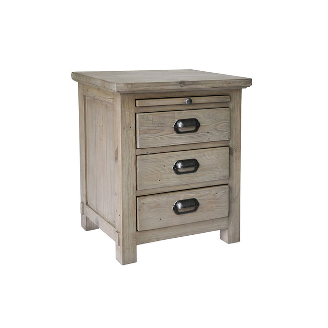 Homestead Reclaimed Wood 3 Drawer Bedside