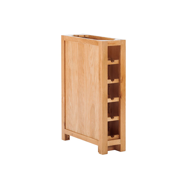Wine Rack with back stop wall