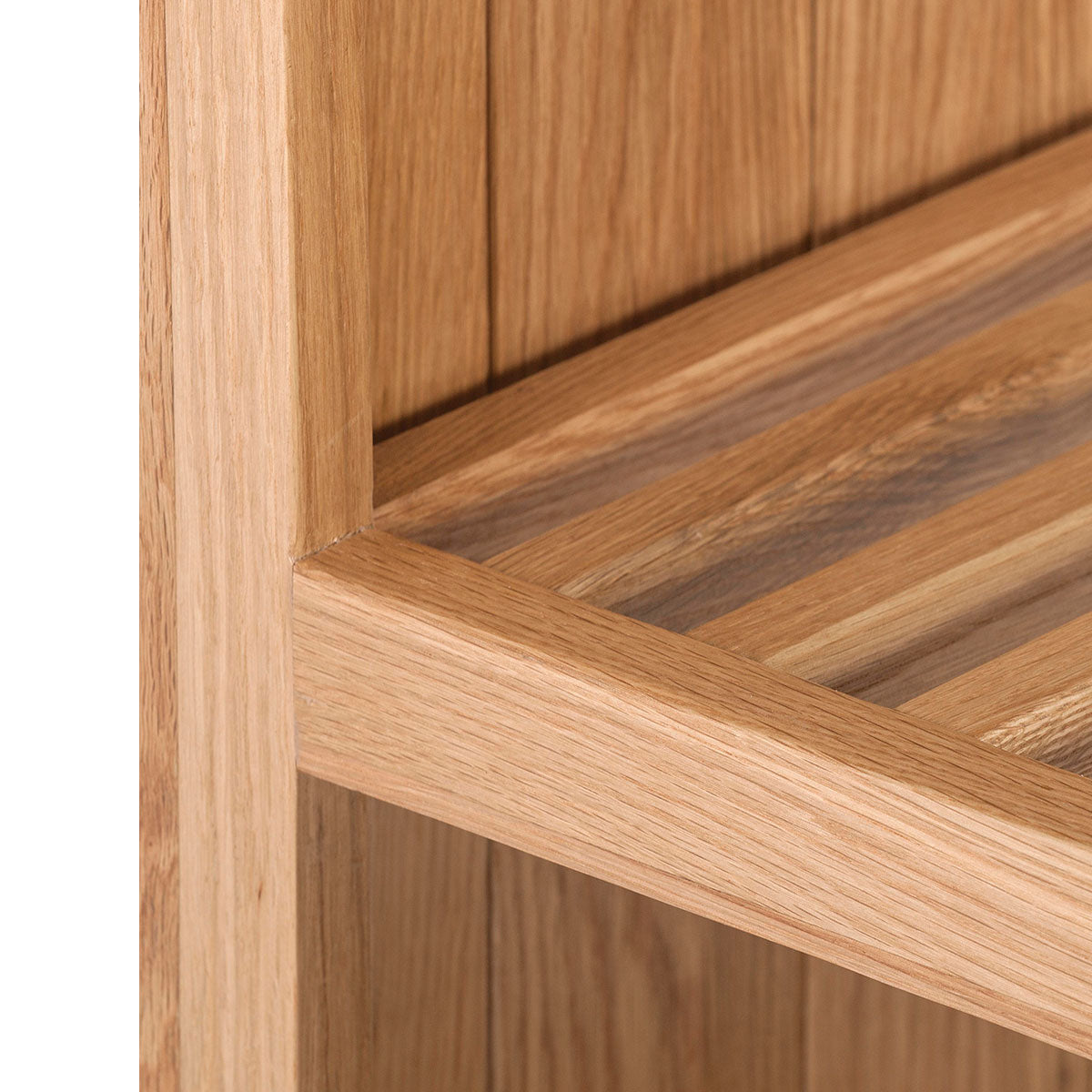 Open End Slatted Shelf Cabinet