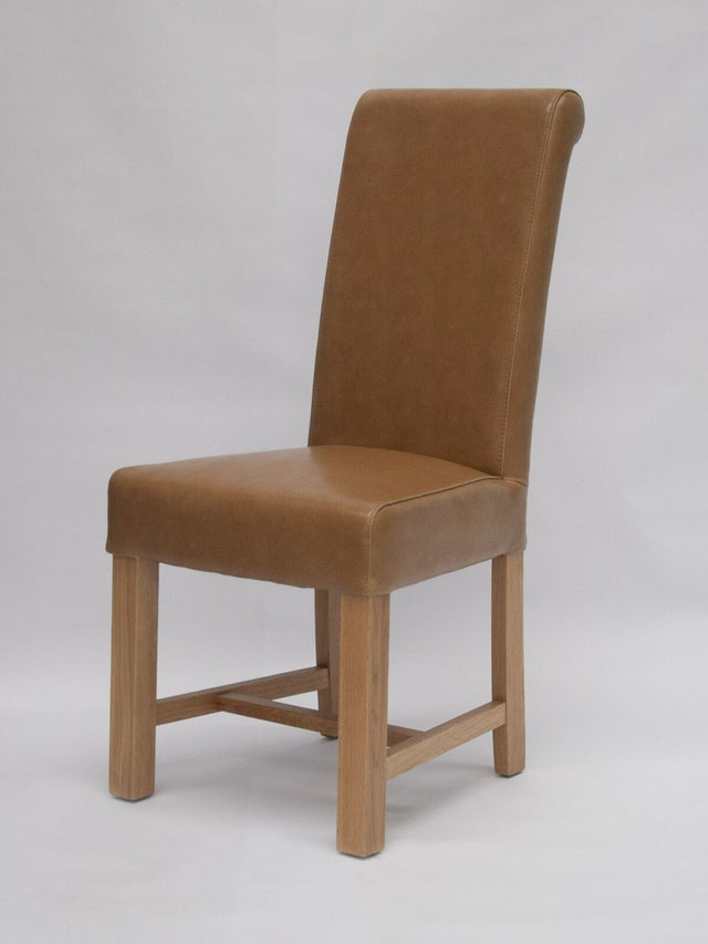 Louisa Tan Leather Chair