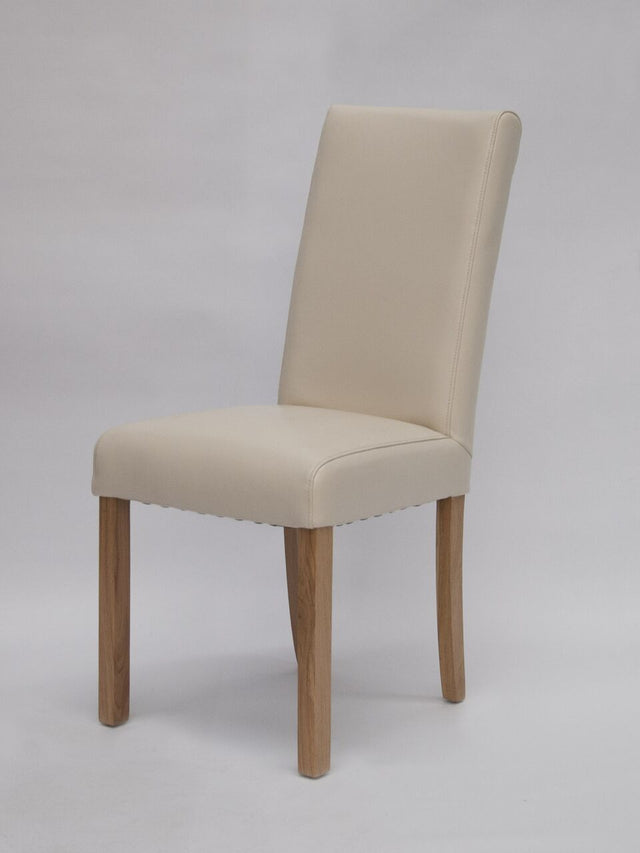 Marianna Cream Leather Chair