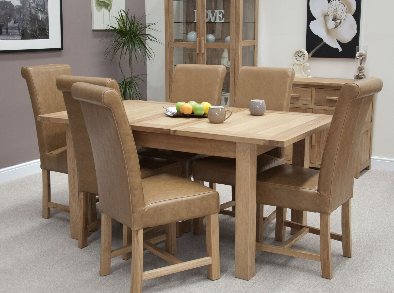 Florence Oak Extending Dining Table