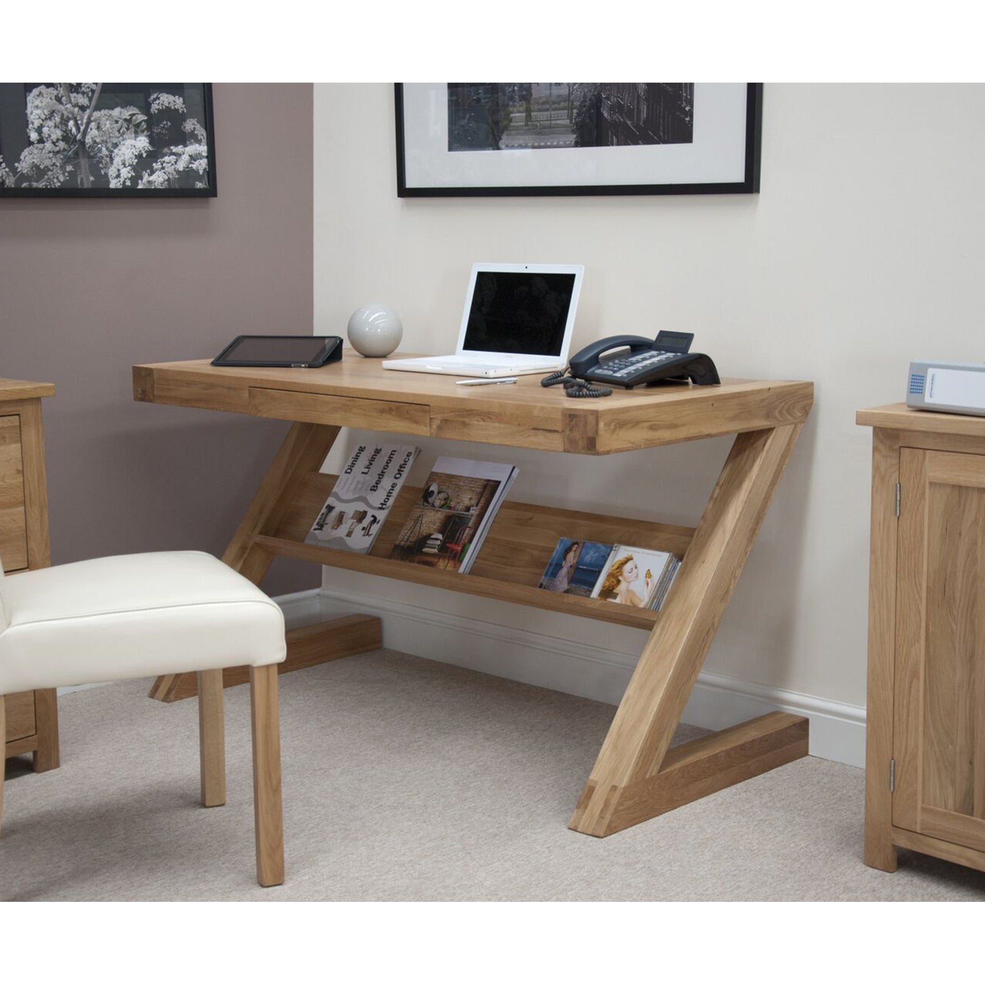 Florence / Zenith Solid Oak Home Office Desk