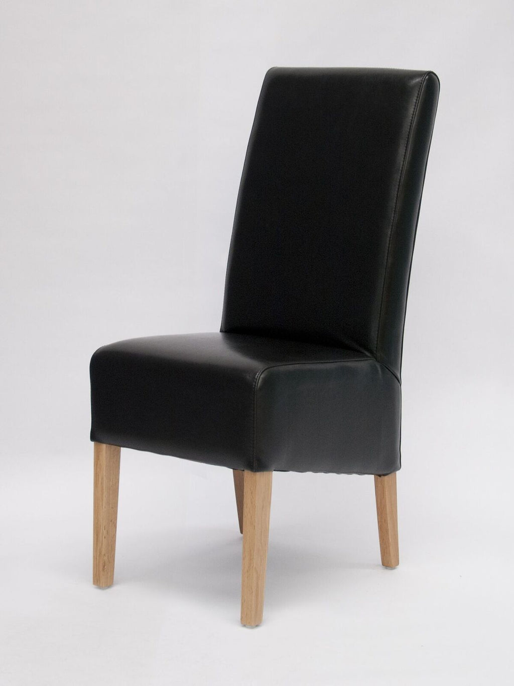 Oslo Black Wave Back Leather Chair