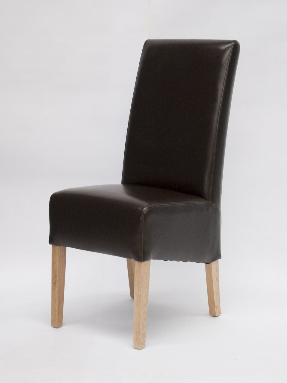 Oslo Brown Wave Back Leather Chair
