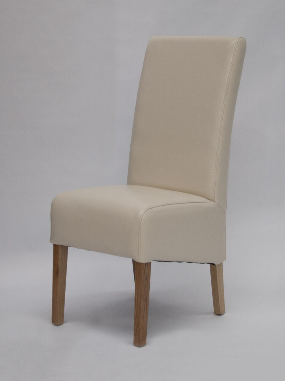 Oslo Cream Wave Back Leather Chair