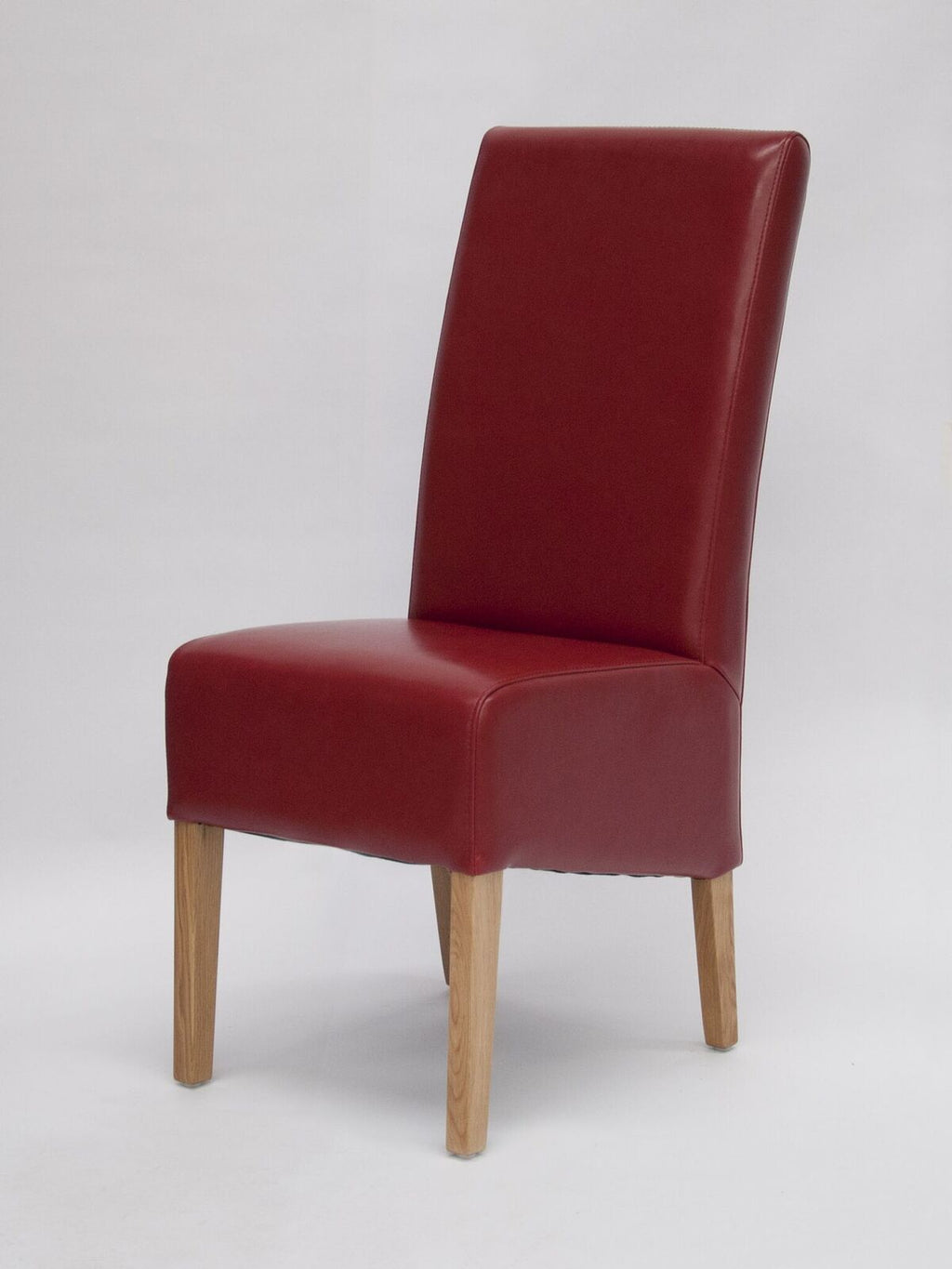 Oslo Red Leather Wave Back Chair