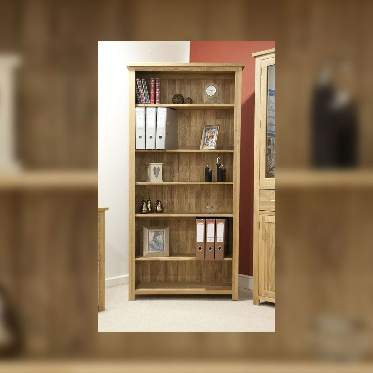 Florence Oak Large Bookcase