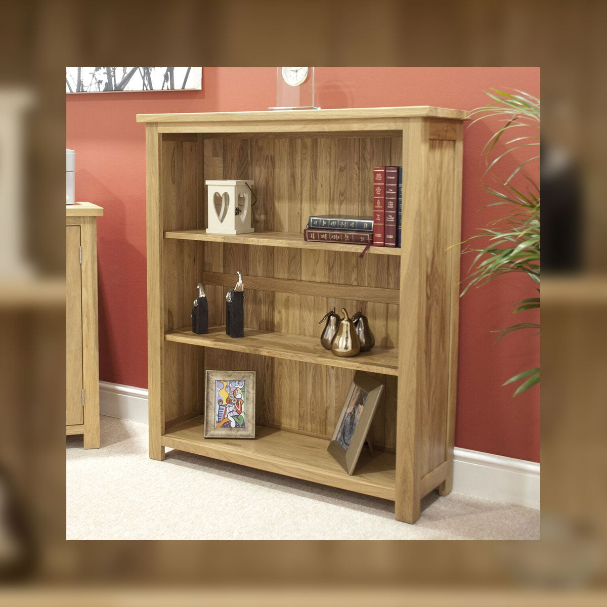 Florence Oak Small Bookcase