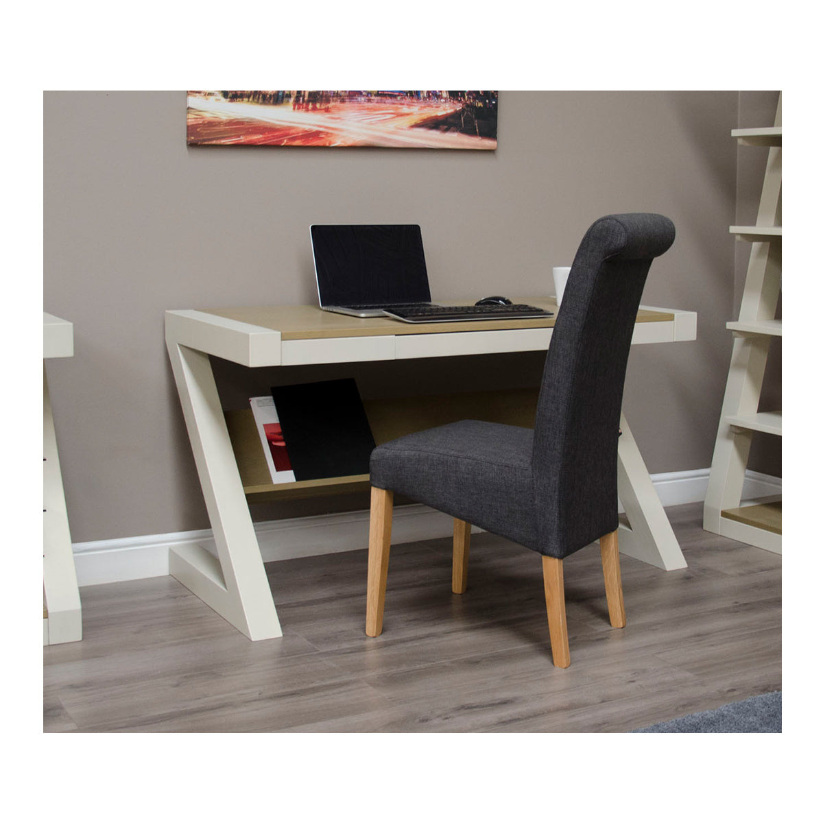 Zenith Painted Oak Computer Desk