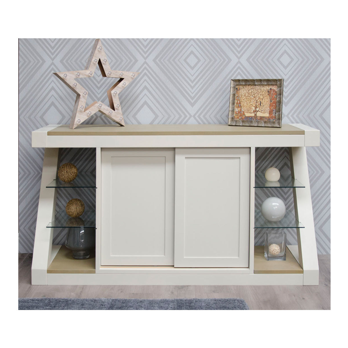 Zenith Painted Oak Large Sideboard