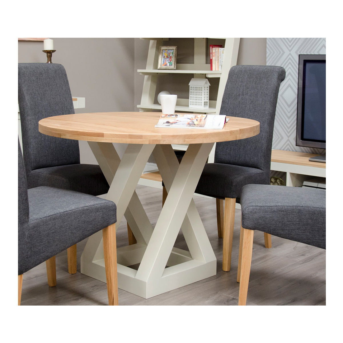 Zenith Painted Oak Round Dining Table