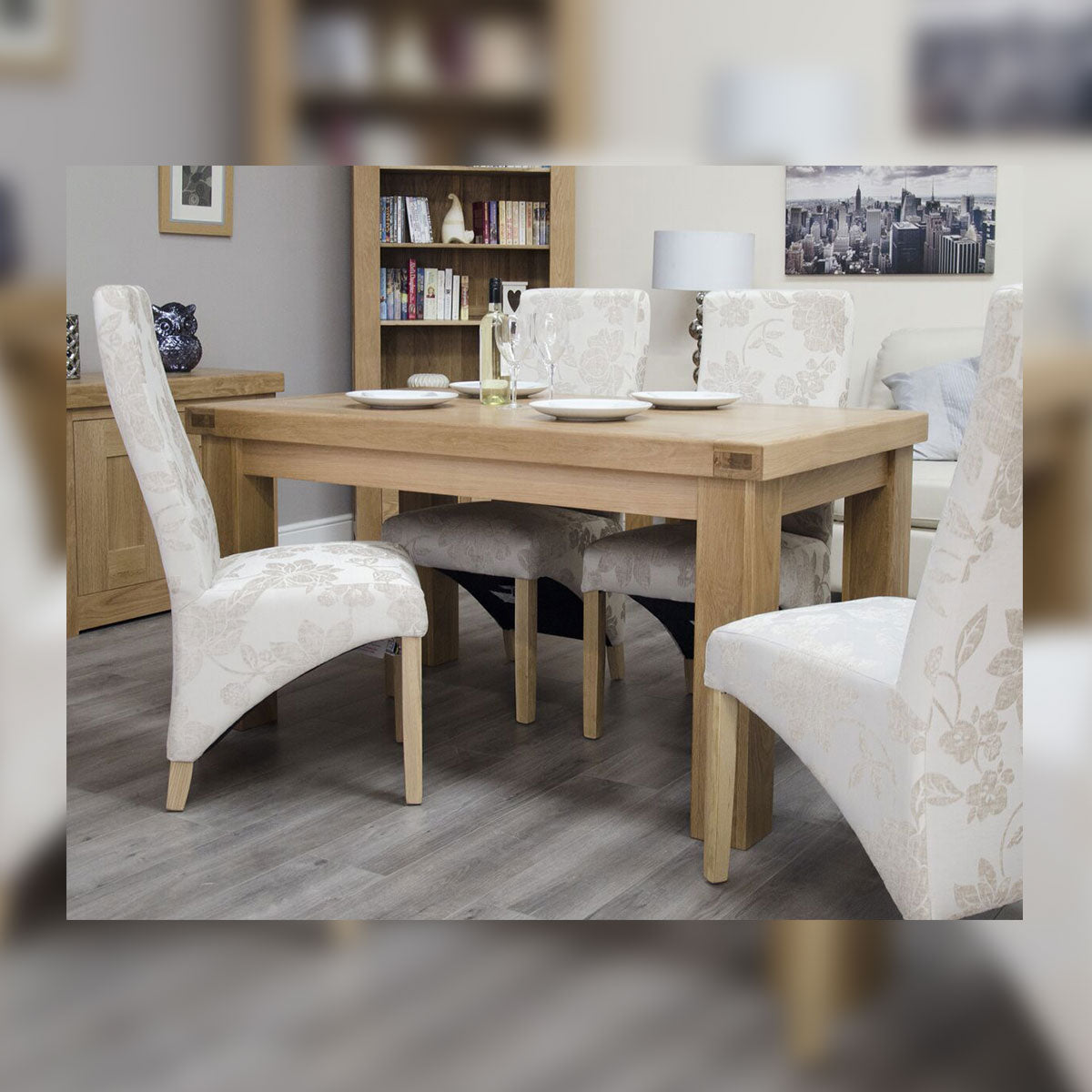 Grande Oak 5x3 Solid Top Dining Table
