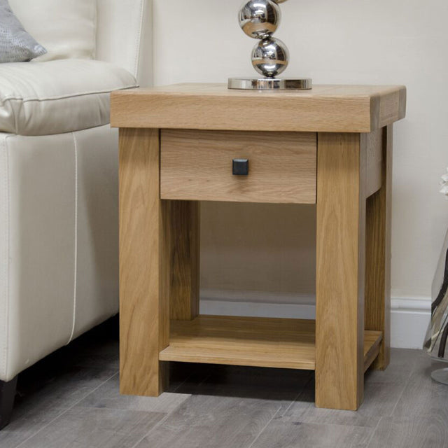 Grande Oak Lamp Table