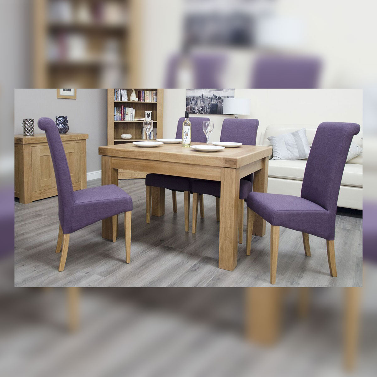 Grande Oak Small Extending Table 1 leaf