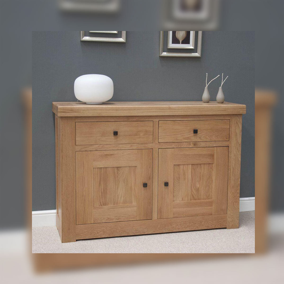 Grande Oak 2 Drawer Sideboard