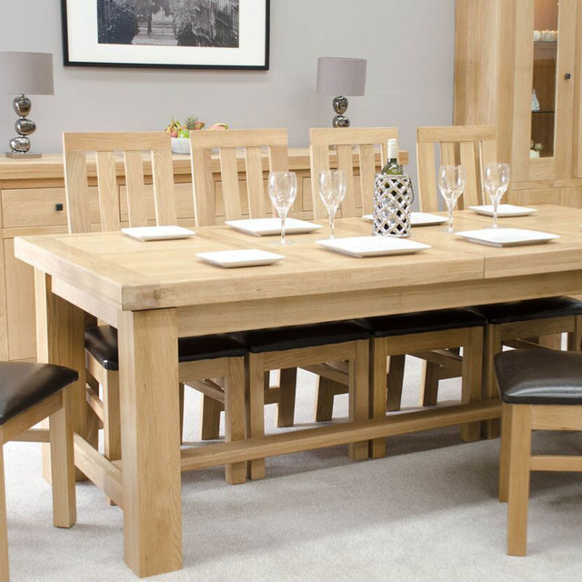 Twin Panel Grande Oak Extending Table