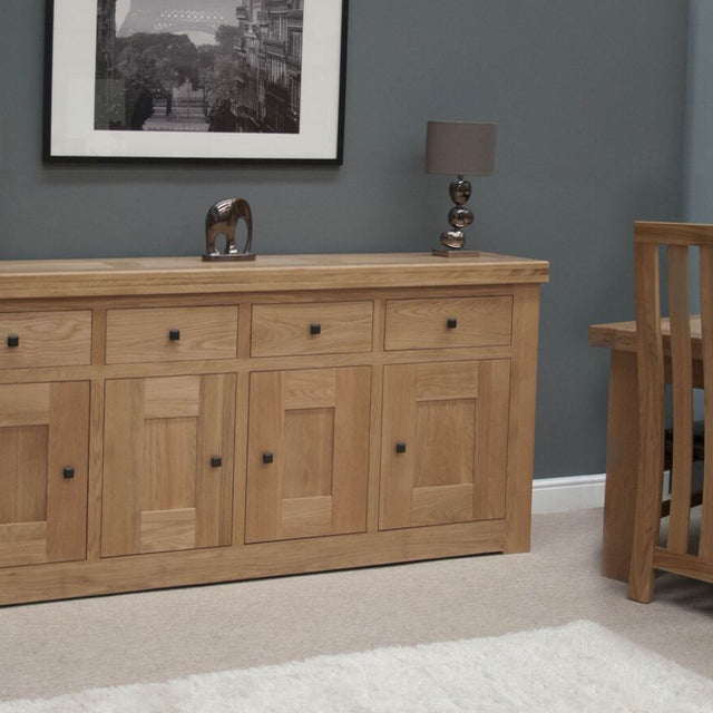 Grande Oak 4 Drawer Sideboard