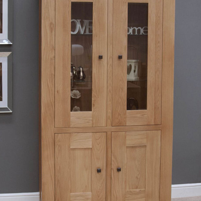 Grande Oak Glass Cabinet