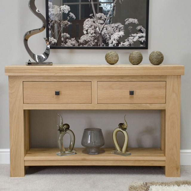 Grande Oak Console Table
